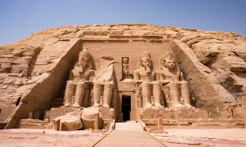 The relocation of the Temple in Abu Simbel, Egypt